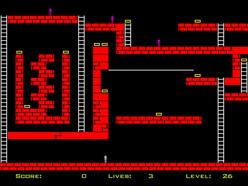 Snatch And Run is a thrilling remake of classical game Lode Runner.